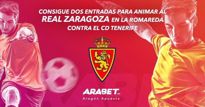 ARABET sortea dos entradas para el Real Zaragoza – CD Tenerife