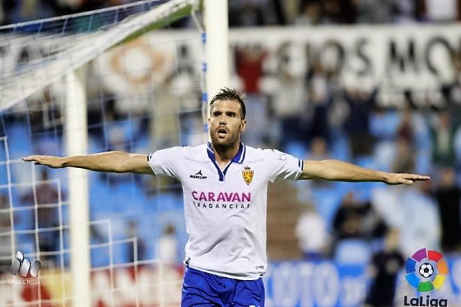 Ortuño devuelve la alegría al Real Zaragoza
