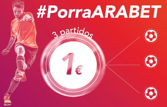 Porra ARABET, 3 partidos, 1€